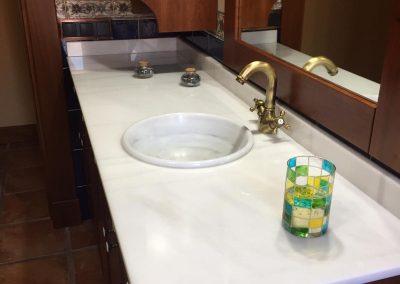 Encimera de baño de mármol