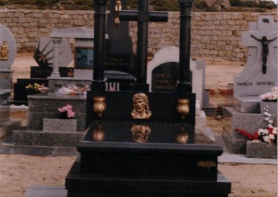 Lápida negro sudáfrica