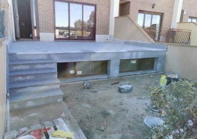 Terraza de suelo de granito con escalera 2